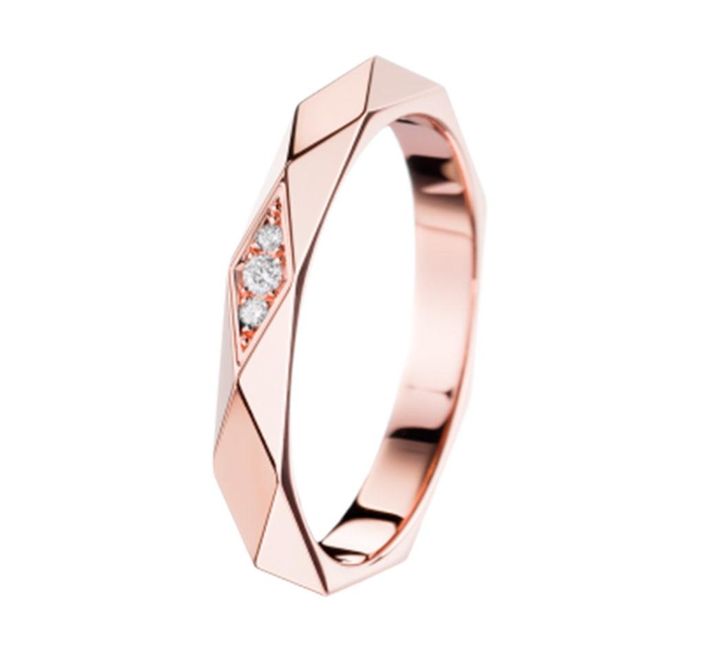 ファセット ダイヤモンド リング ミディアム