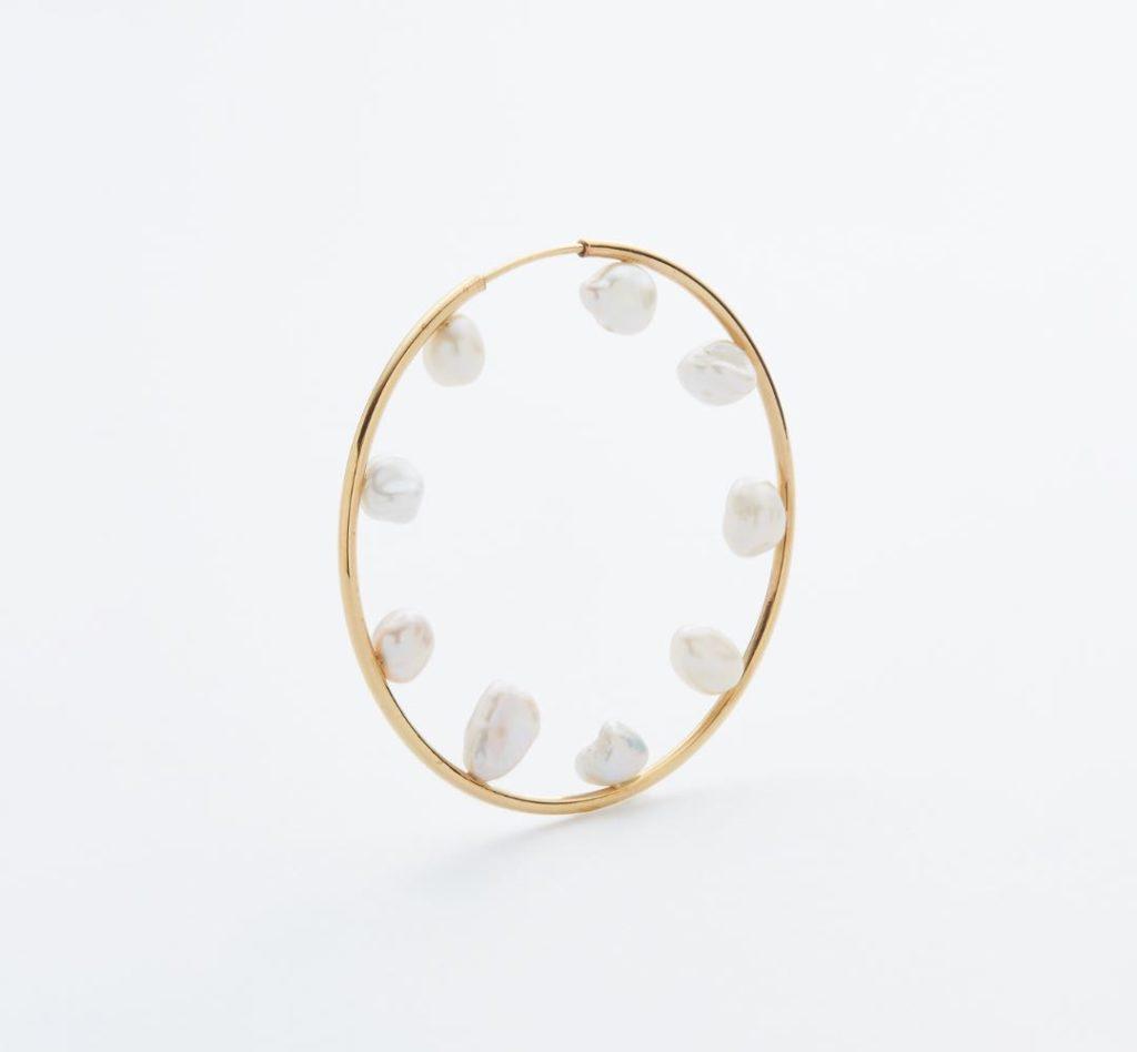 Secret Garden 50 Hoop Pierced Earring – Gold High Polish