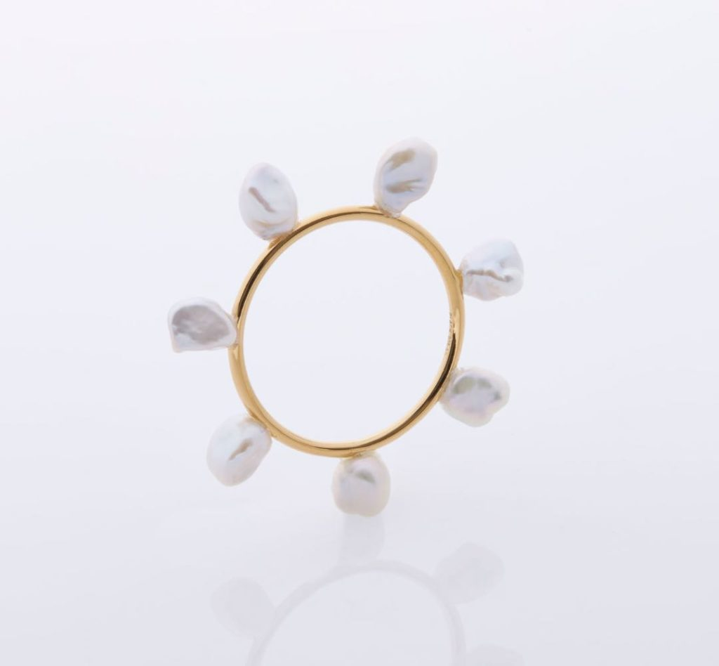 Flower Charm – Yellow Gold